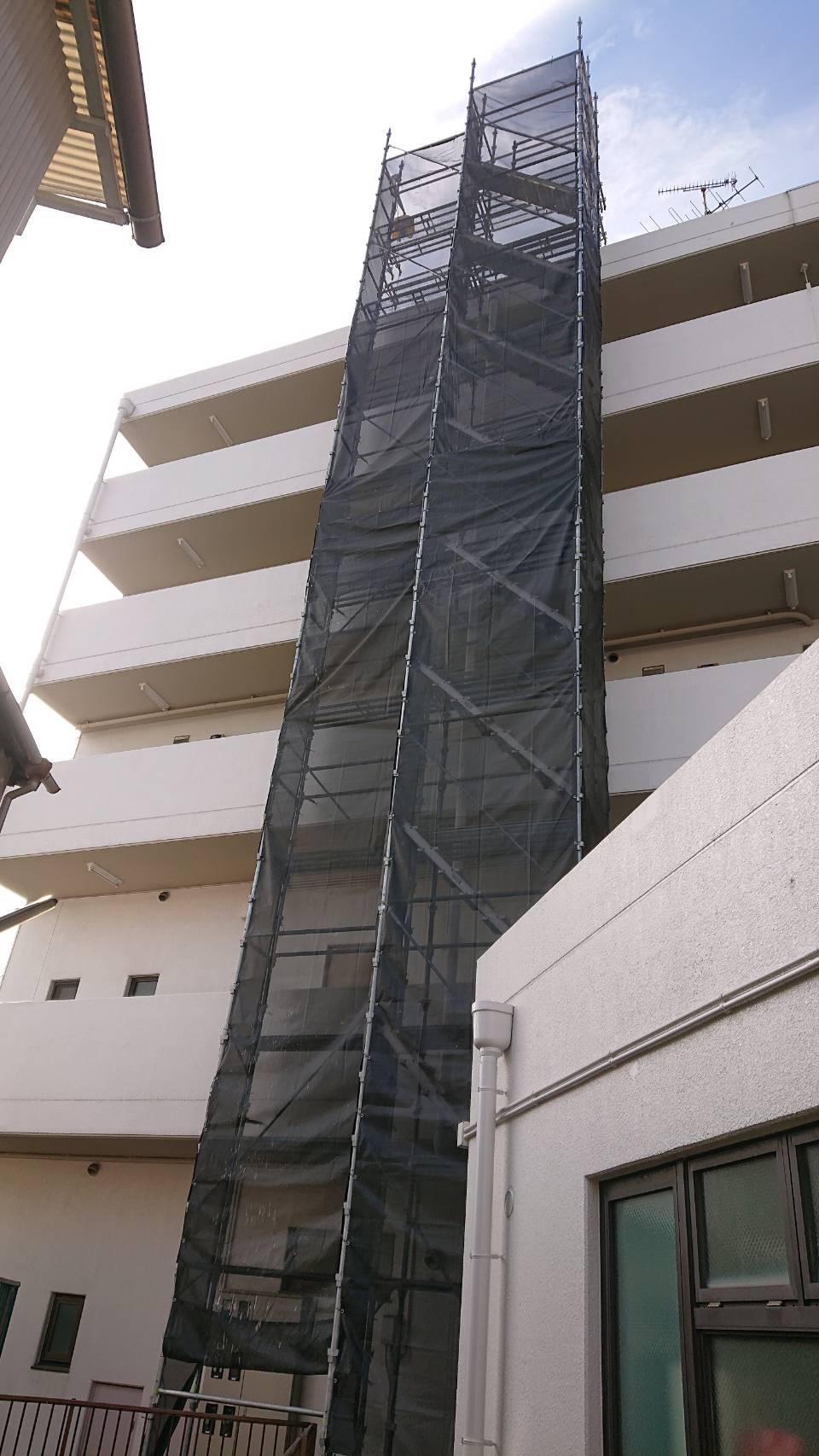 12月 横須賀市久里浜  配管工事用足場工事
