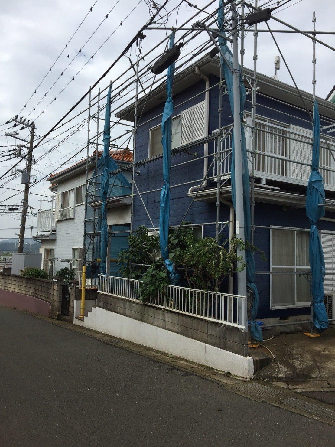 野崎工業 横須賀市 鎌倉市 足場工事 台風養生