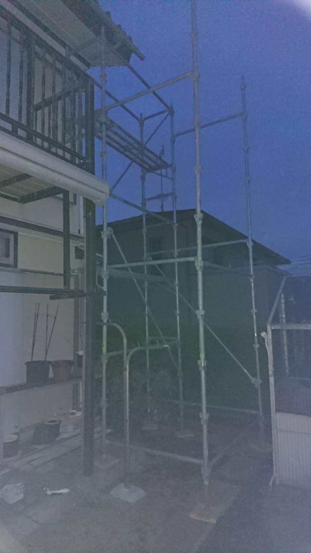 野崎工業  台風被害用  部分足場工事  施工事例
