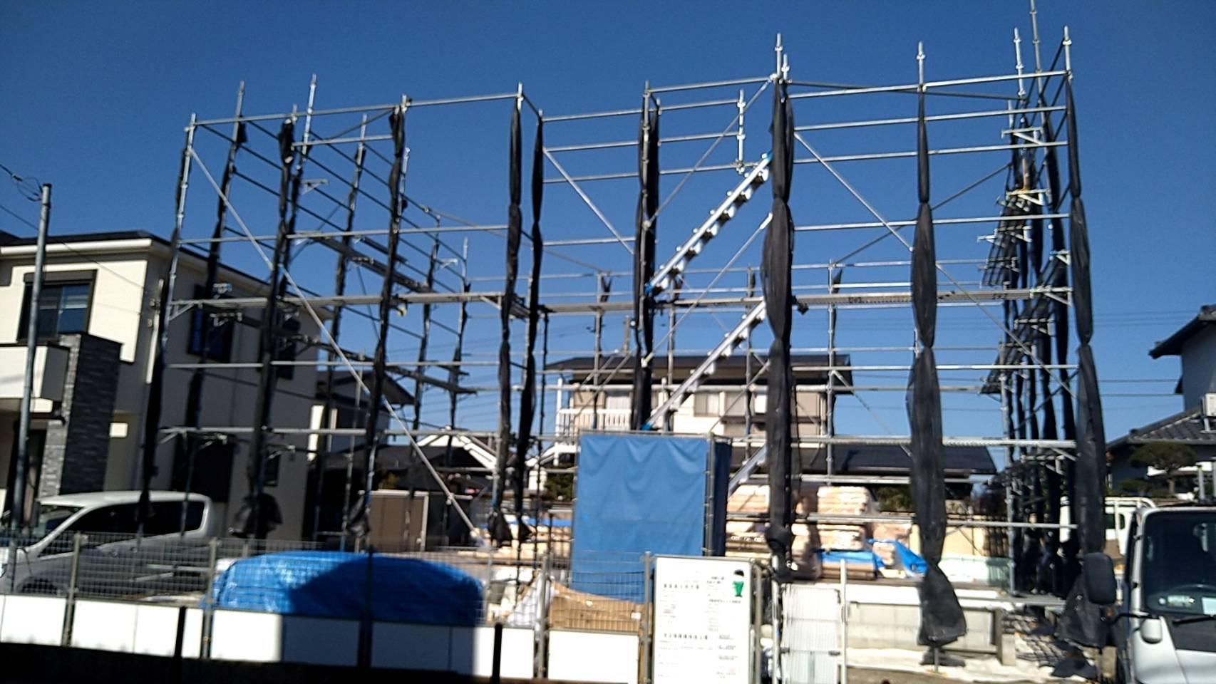 野崎工業 足場工事施工事例 横須賀市桜が丘