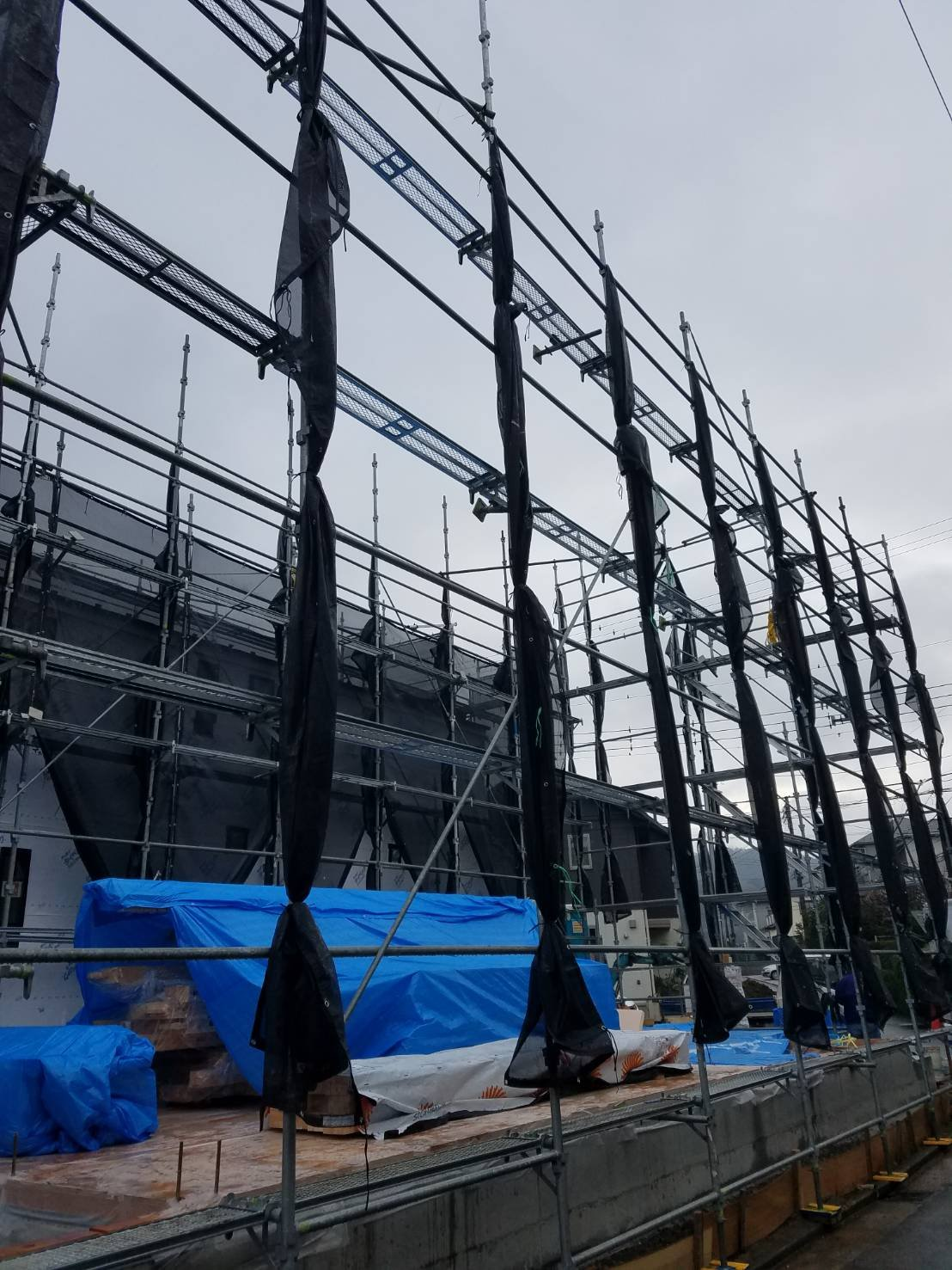 野崎工業 足場工事施工事例                神奈川県横須賀市長沢