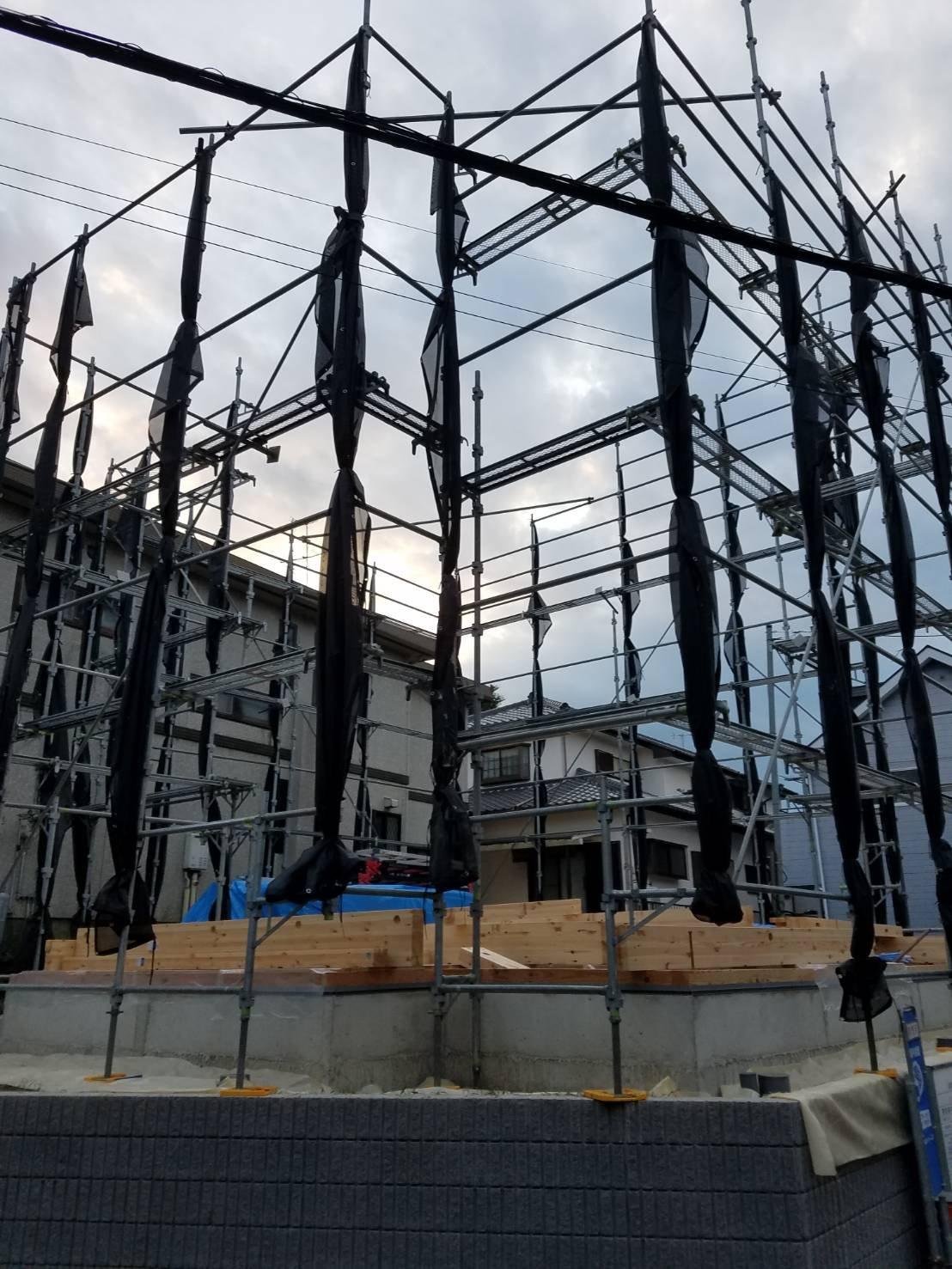 野崎工業 足場工事 施工事例                       神奈川県横須賀市森崎                     施工足場