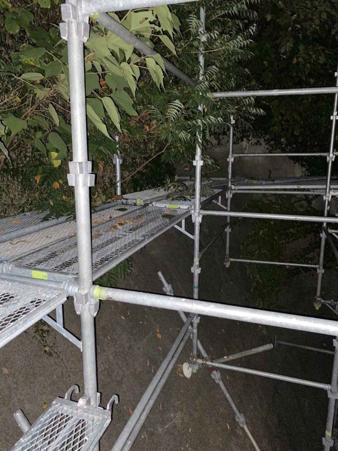野崎工業 足場工事施工事例               横須賀市三春町 伐採用足場