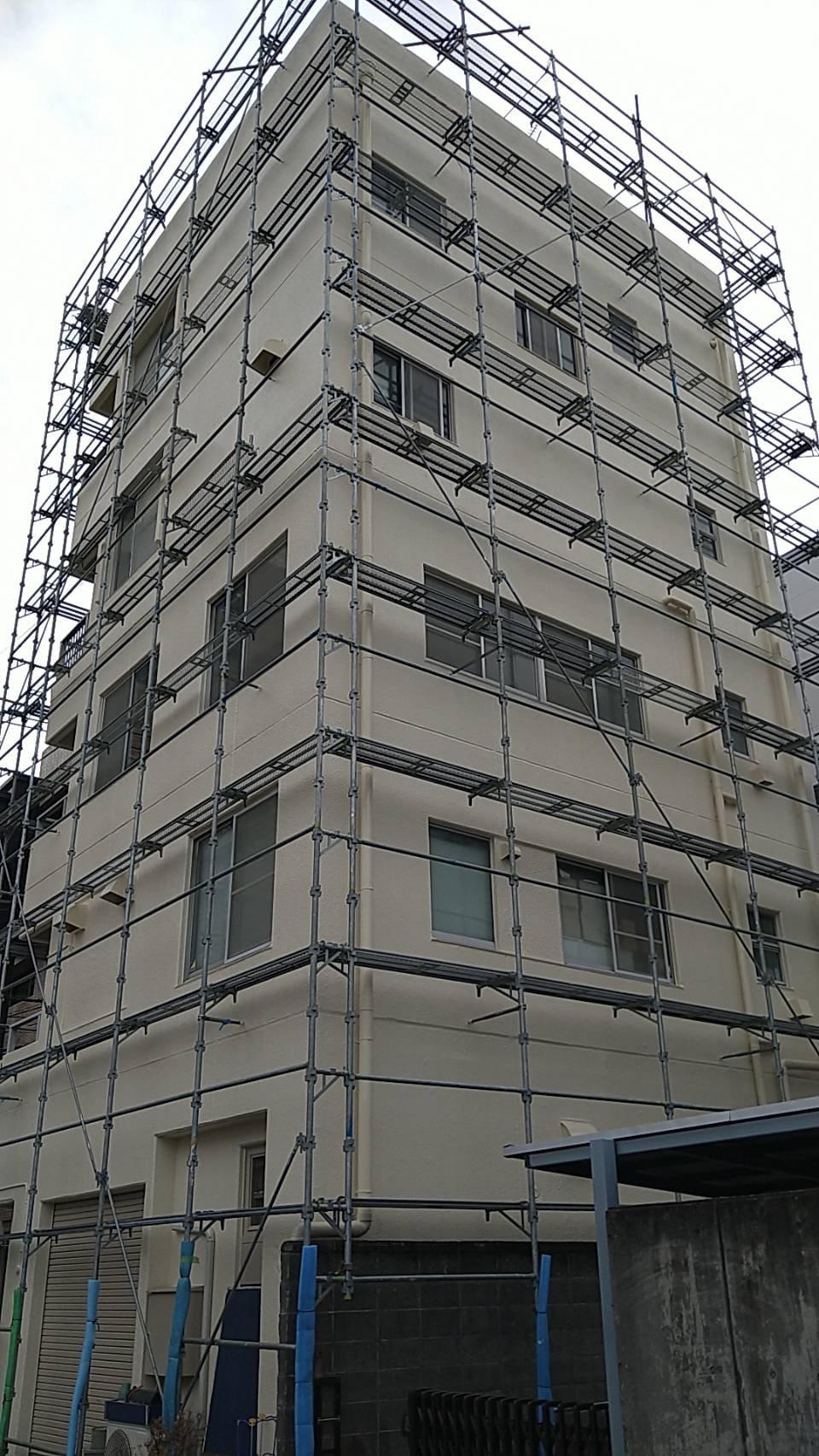 野崎工業 足場工事施工事例          神奈川県横須賀市小川町                                                                                       外壁塗装工事