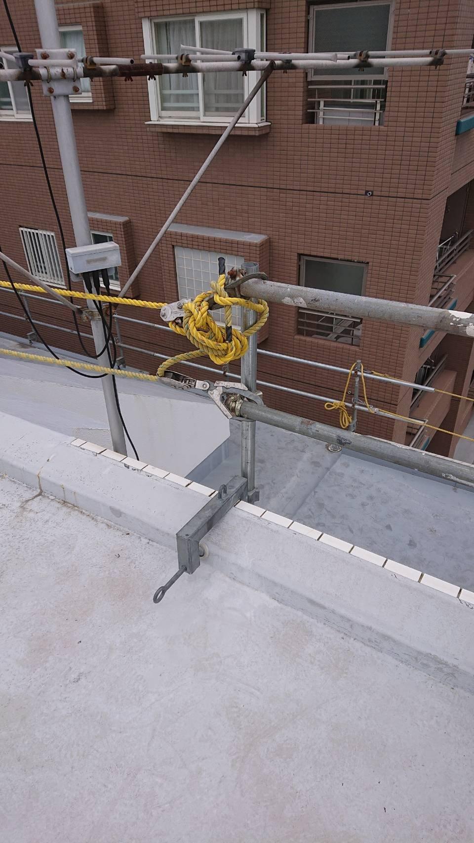 野崎工業 足場工事 施工事例             神奈川県横浜市南区                               5階建てマンション 落下防止