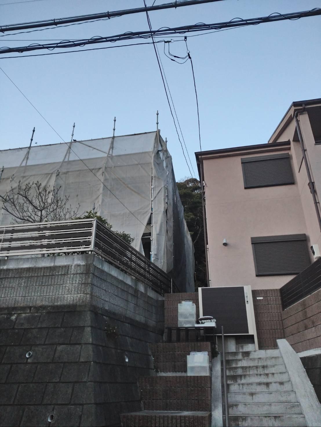 野崎工業 神奈川県横須賀市鴨居 足場工事 施工事例