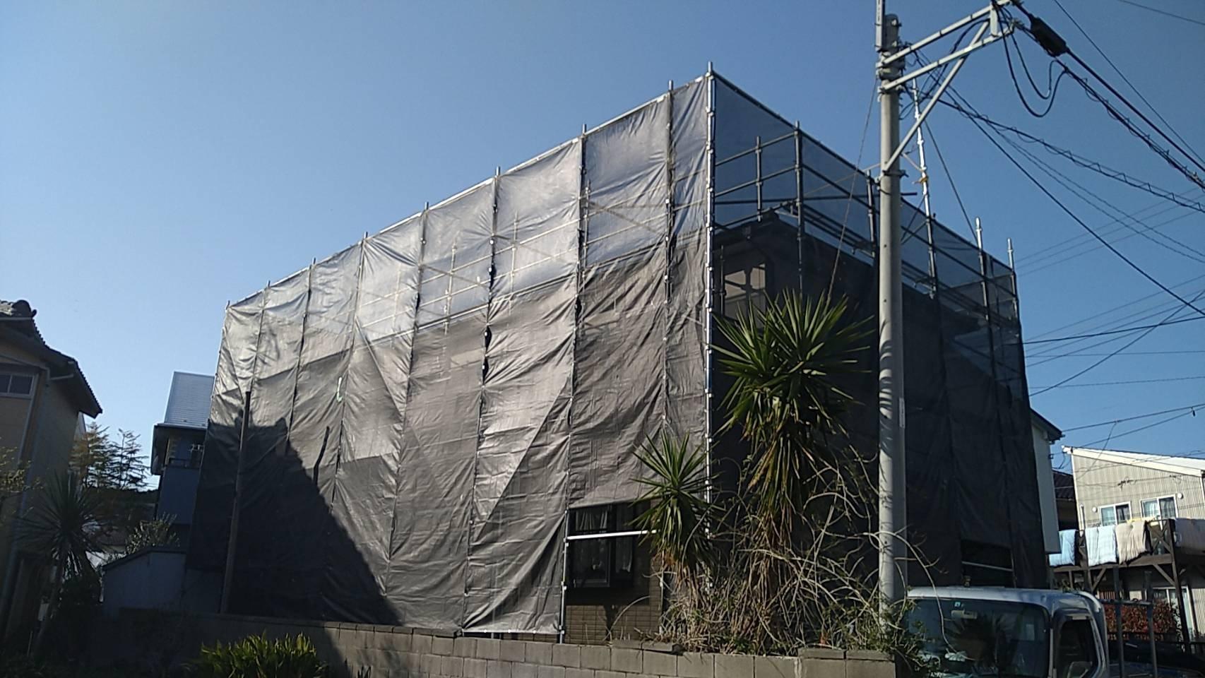 野崎工業 神奈川県横須賀市津久井 足場工事 施工事例