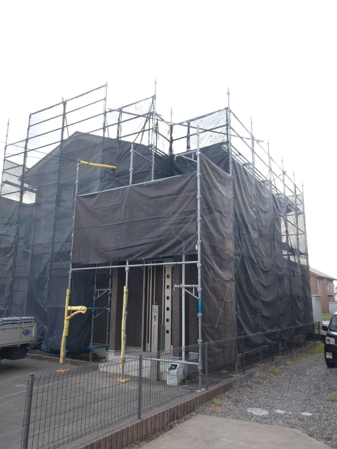 野崎工業 千葉県君津市 足場工事施工事例  外壁塗装 屋根塗装