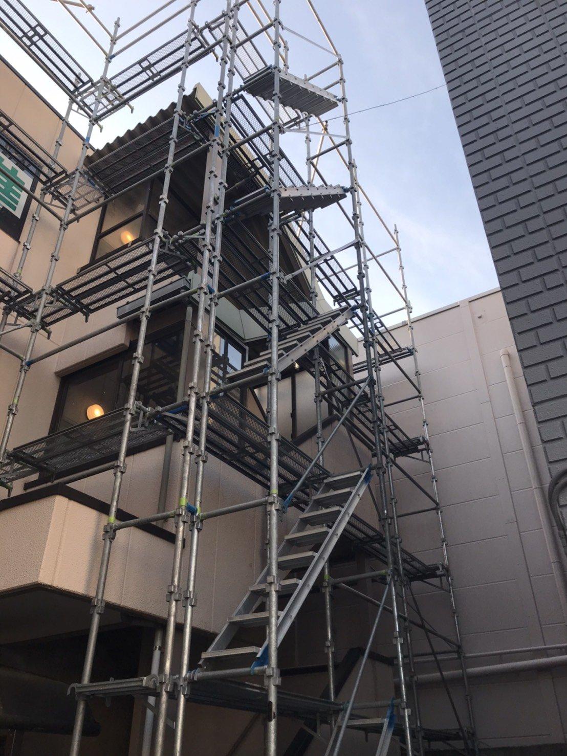 野崎工業 神奈川県大和市 足場工事 施工事例 外壁塗装