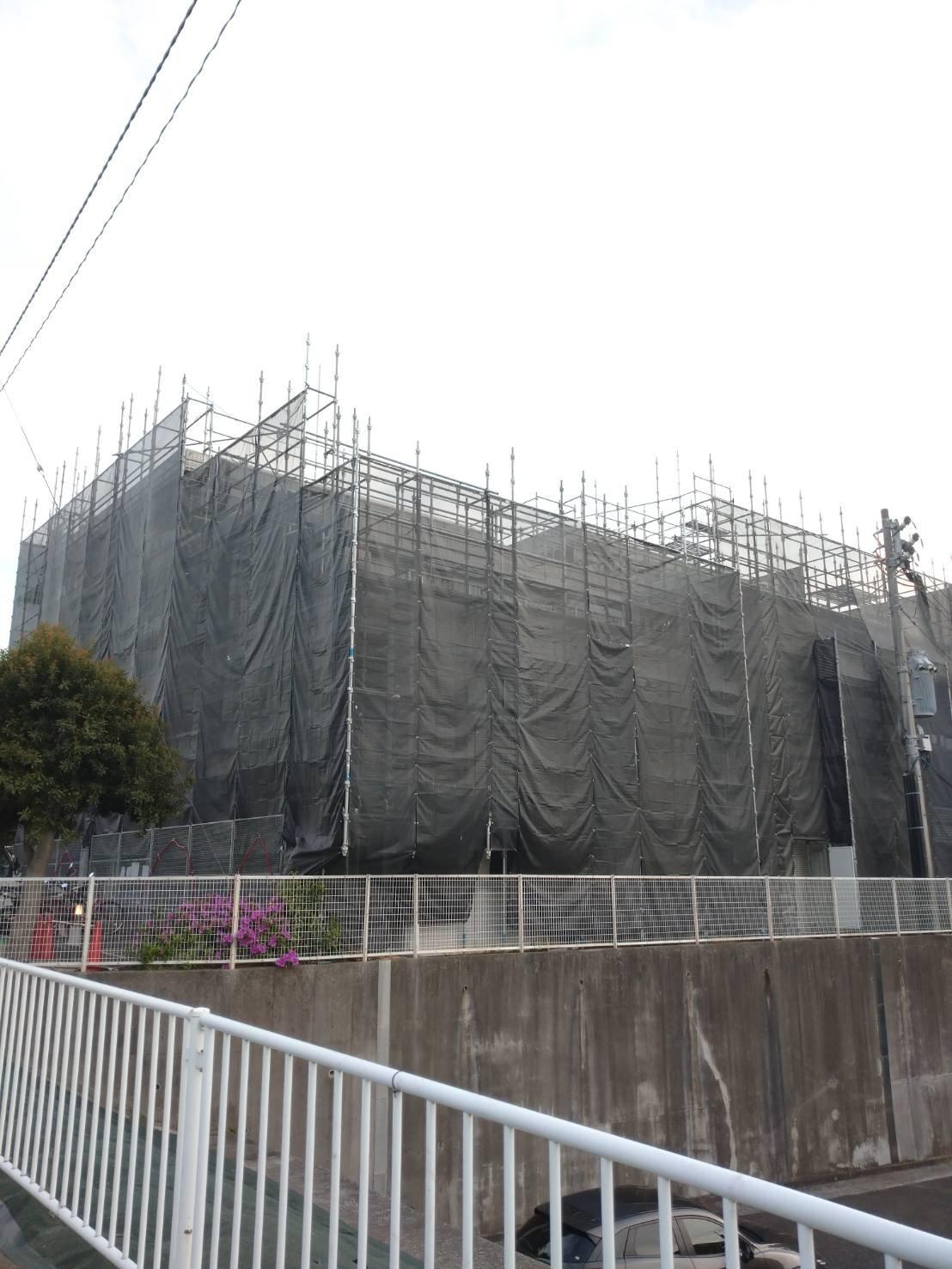 野崎工業 神奈川県横浜市金沢区 足場工事 施工事例                           大規模修繕工事