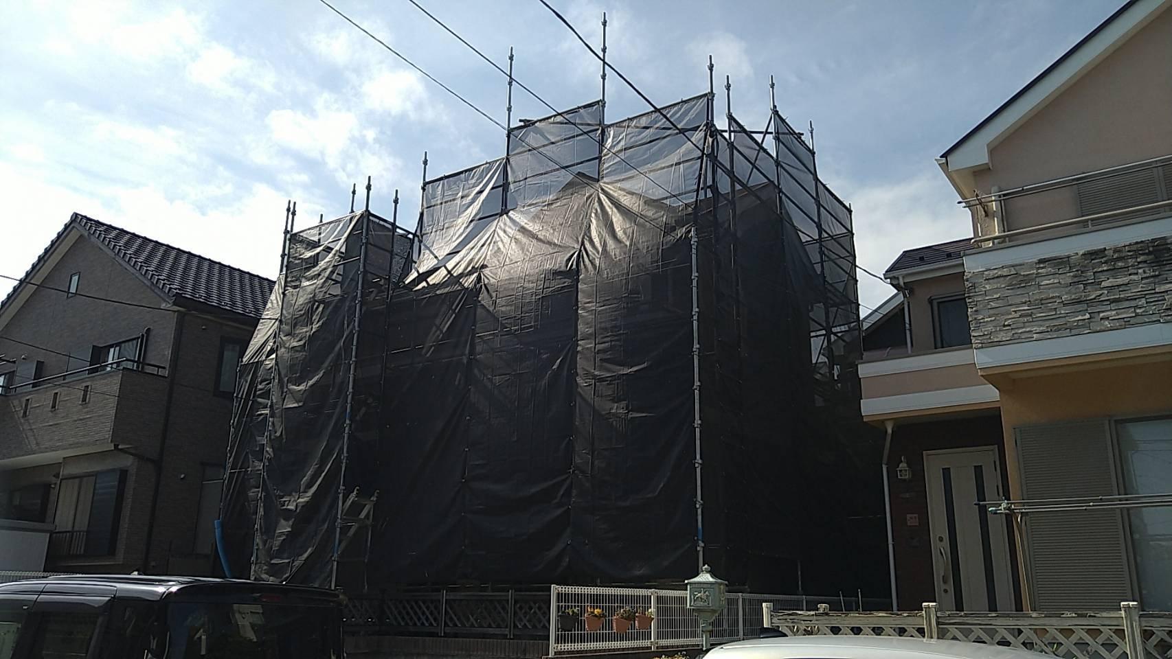 野崎工業 神奈川県横須賀市太田和 足場工事 施工事例 外壁塗装 屋根塗装