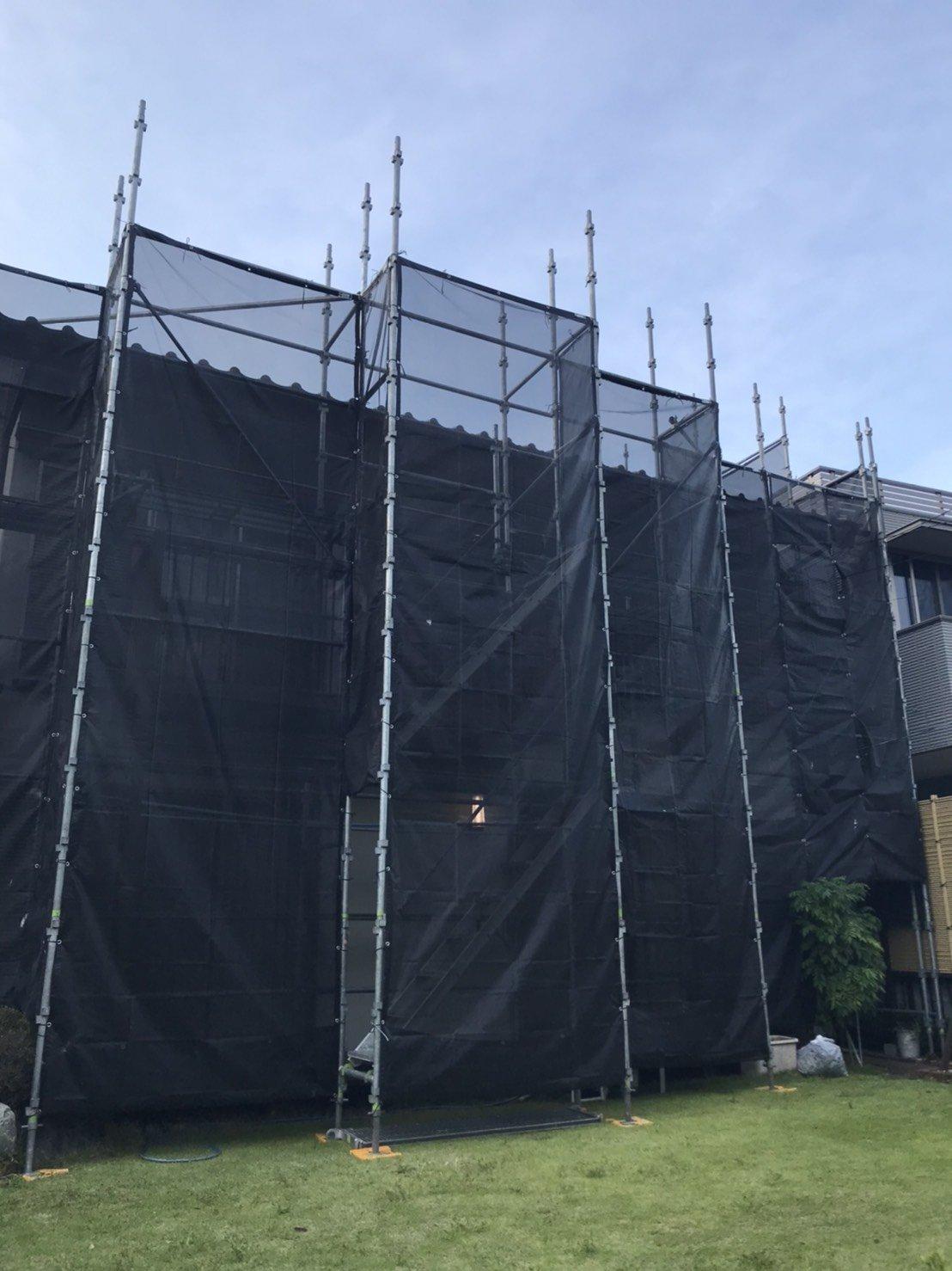 野崎工業 神奈川県逗子市 足場工事 施工事例 外壁塗装