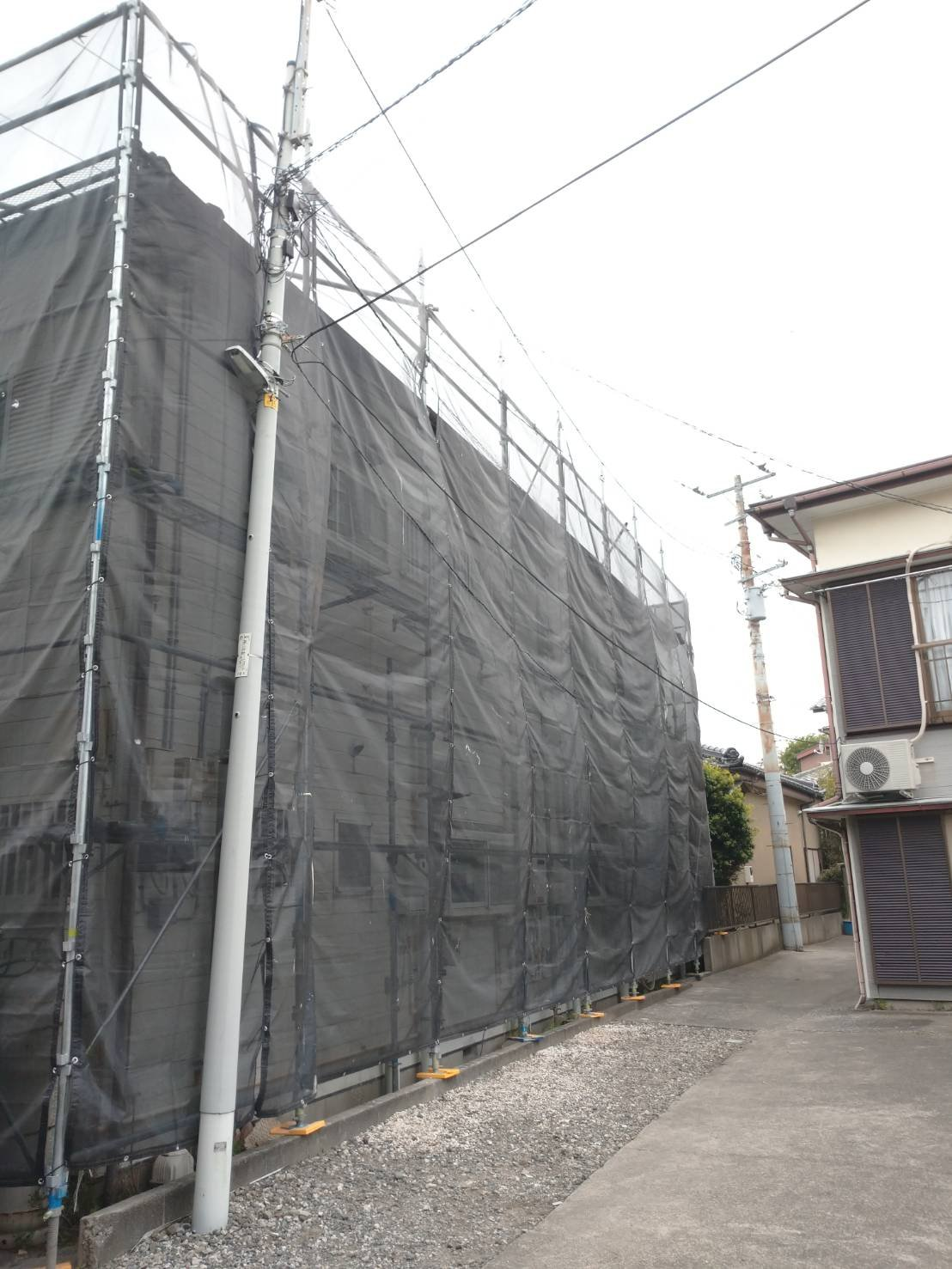 野崎工業 足場工事施工事例             神奈川県横須賀市津久井                   外壁塗装 屋根塗装