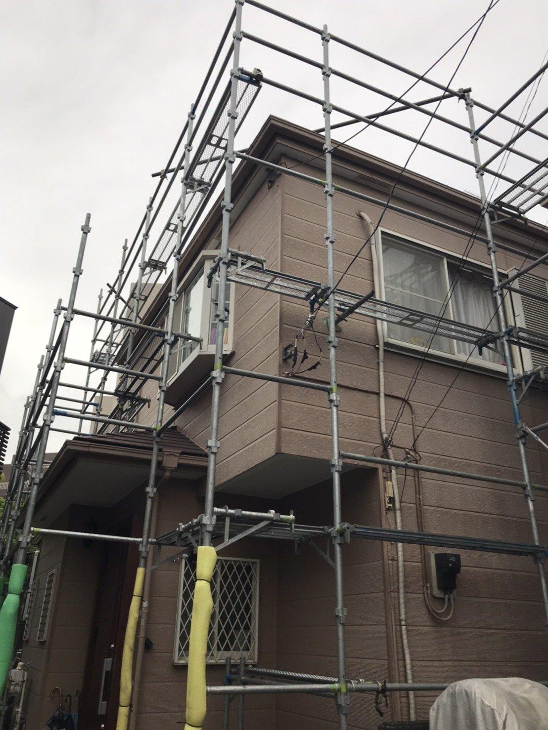 神奈川県横浜市戸塚区 足場工事施工事例 外壁塗装