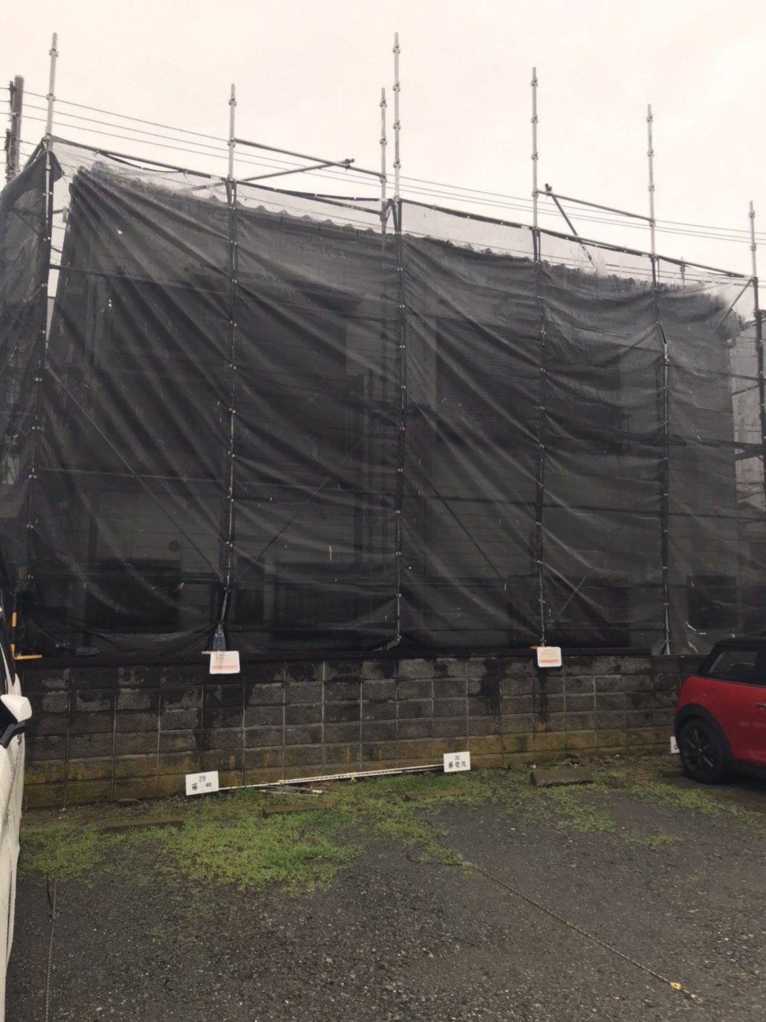 横浜市金沢区 足場工事施工事例 外壁塗装