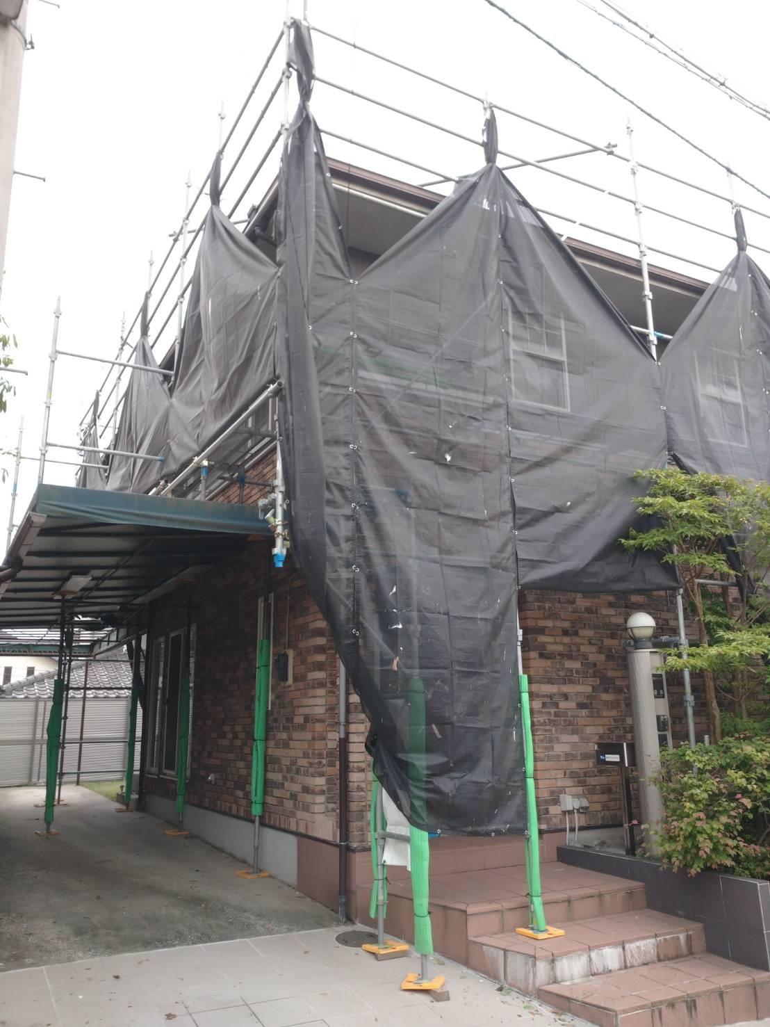 神奈川県横浜市栄区 足場工事施工事例 外壁 屋根塗装