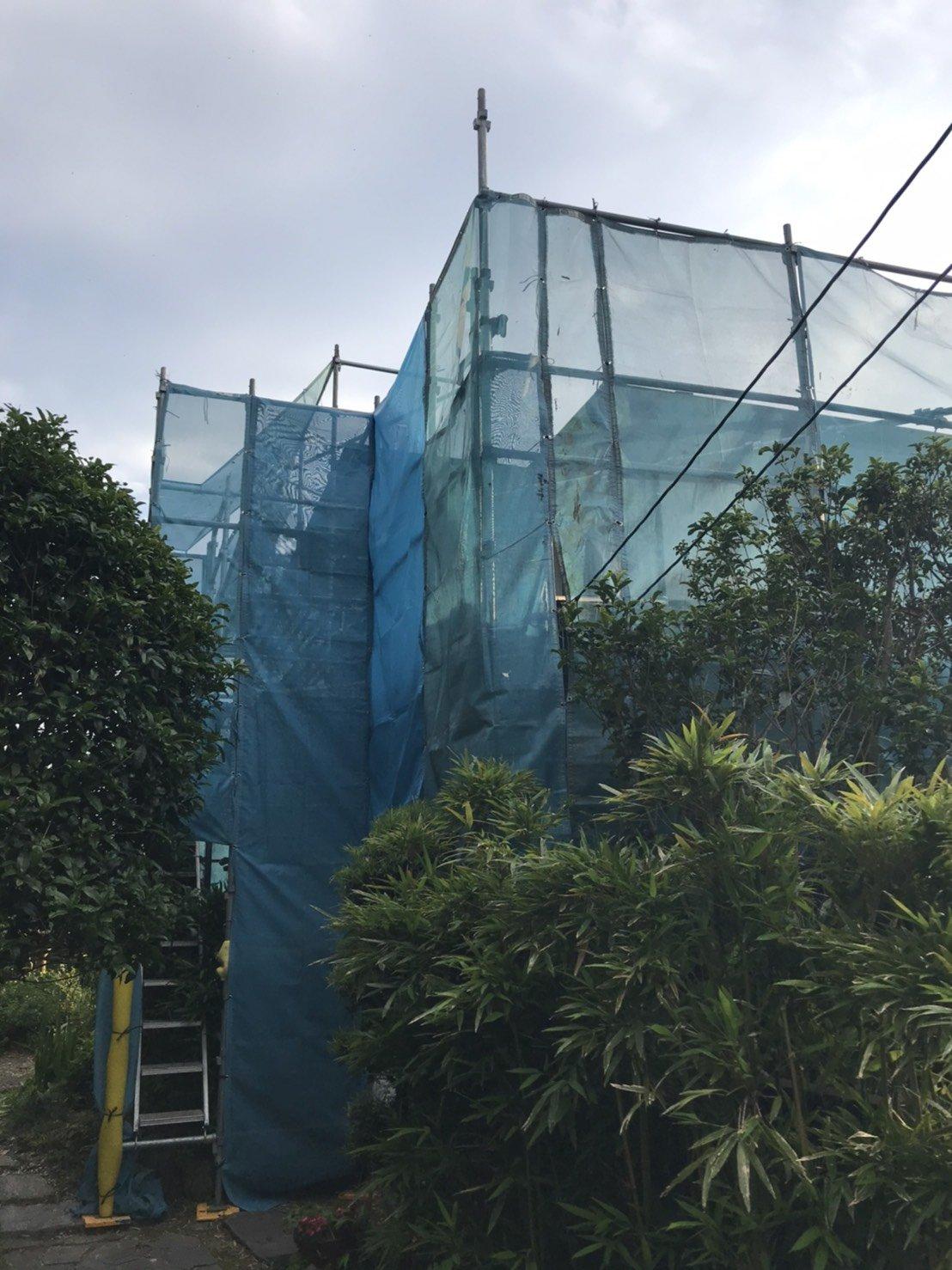 神奈川県逗子市 足場工事 施工事例 外壁塗装