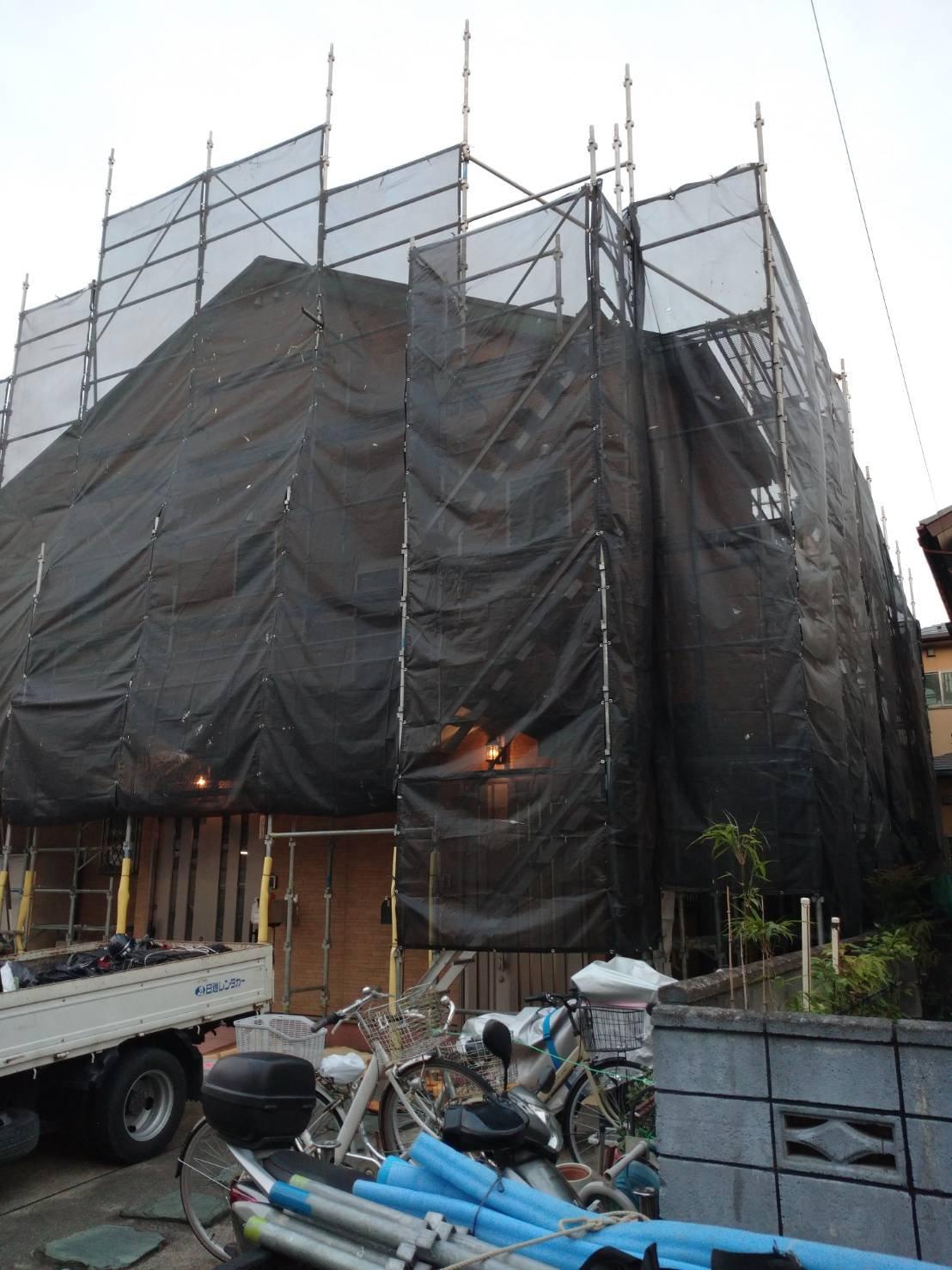神奈川県横須賀市舟倉 足場工事施工事例 外壁塗装