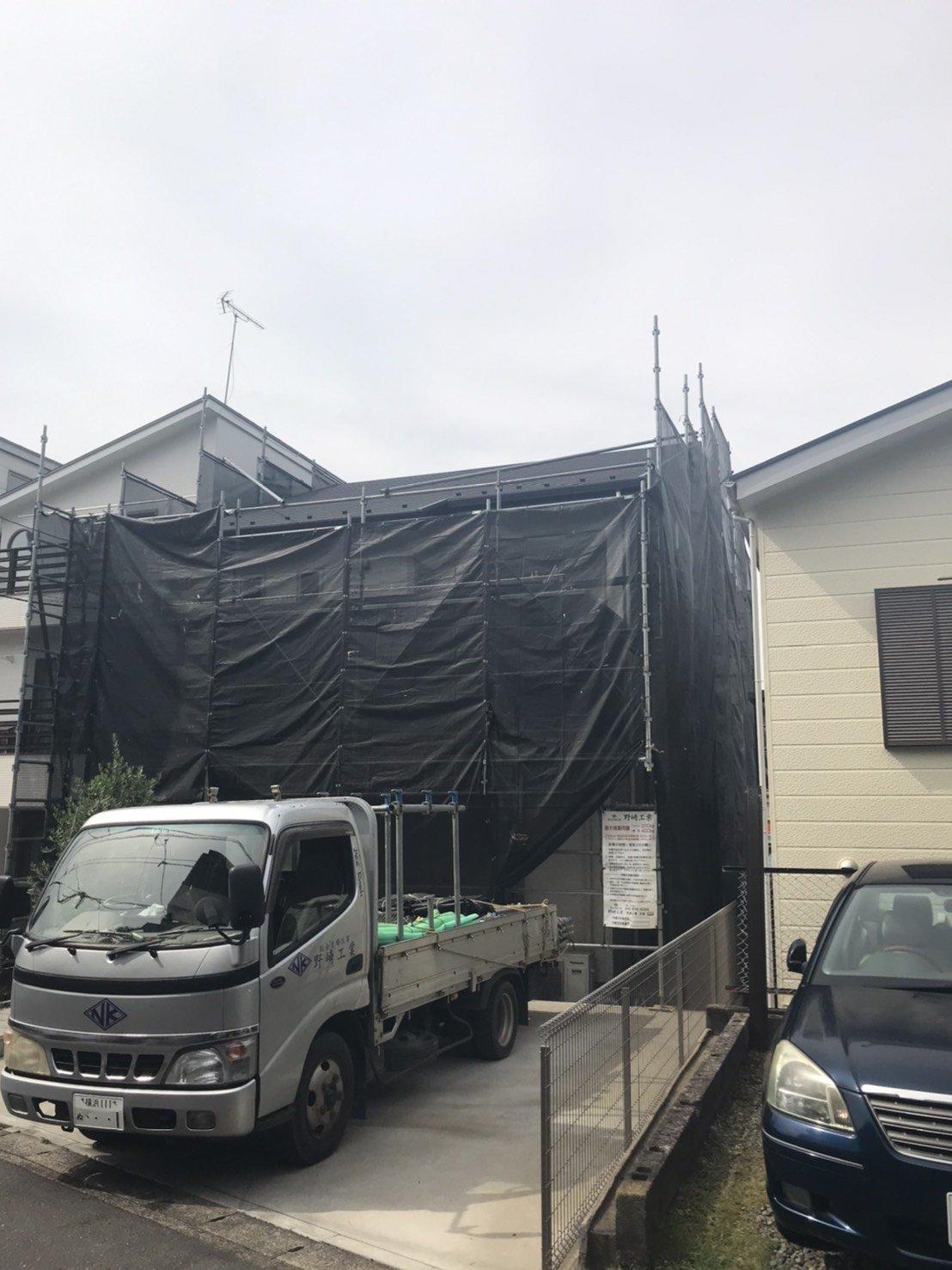 神奈川県逗子市 足場工事 施工事例