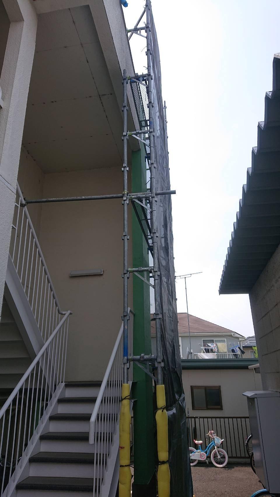 東京都町田市 足場工事施工事例 外壁塗装