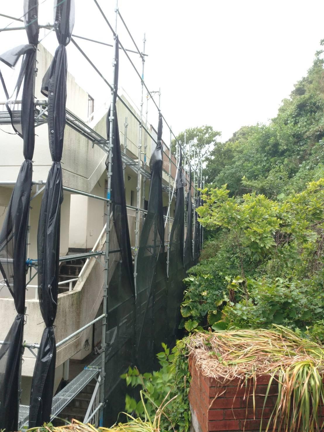 神奈川県横須賀市秋谷 足場工事施工事例 外壁塗装