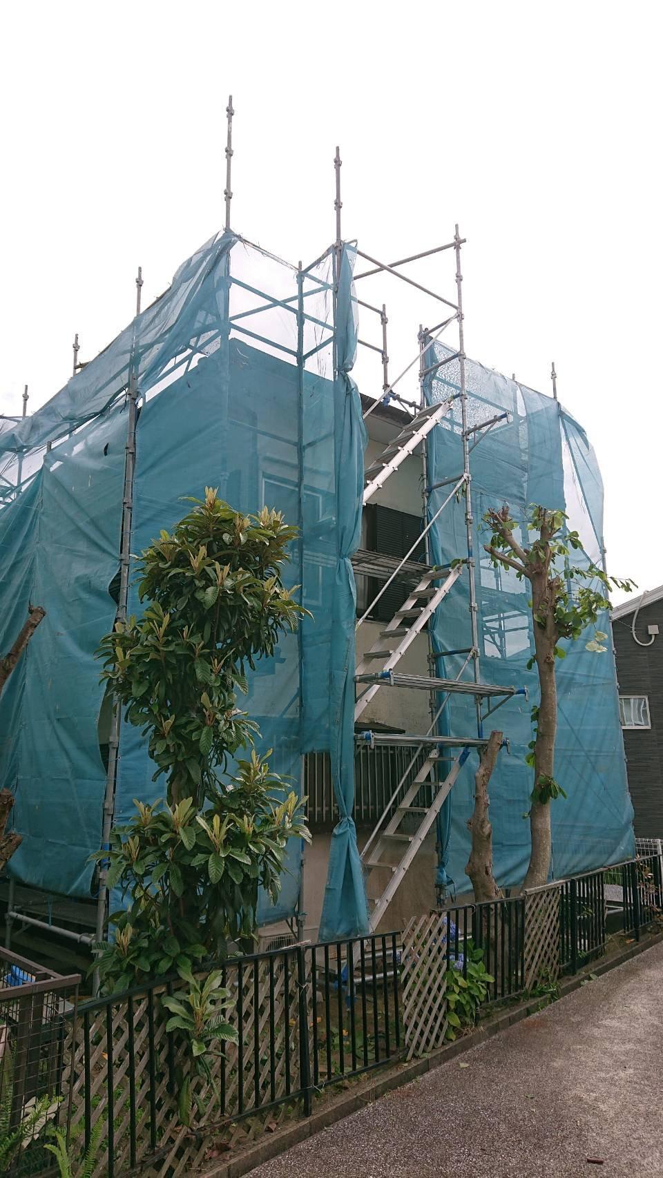 神奈川県横須賀市太田和 足場工事施工事例 外壁塗装 屋根塗装