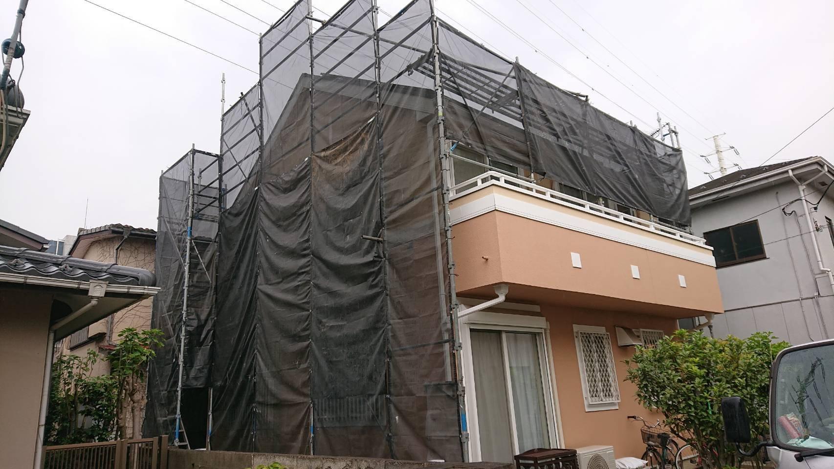 東京都調布市 足場工事施工事例