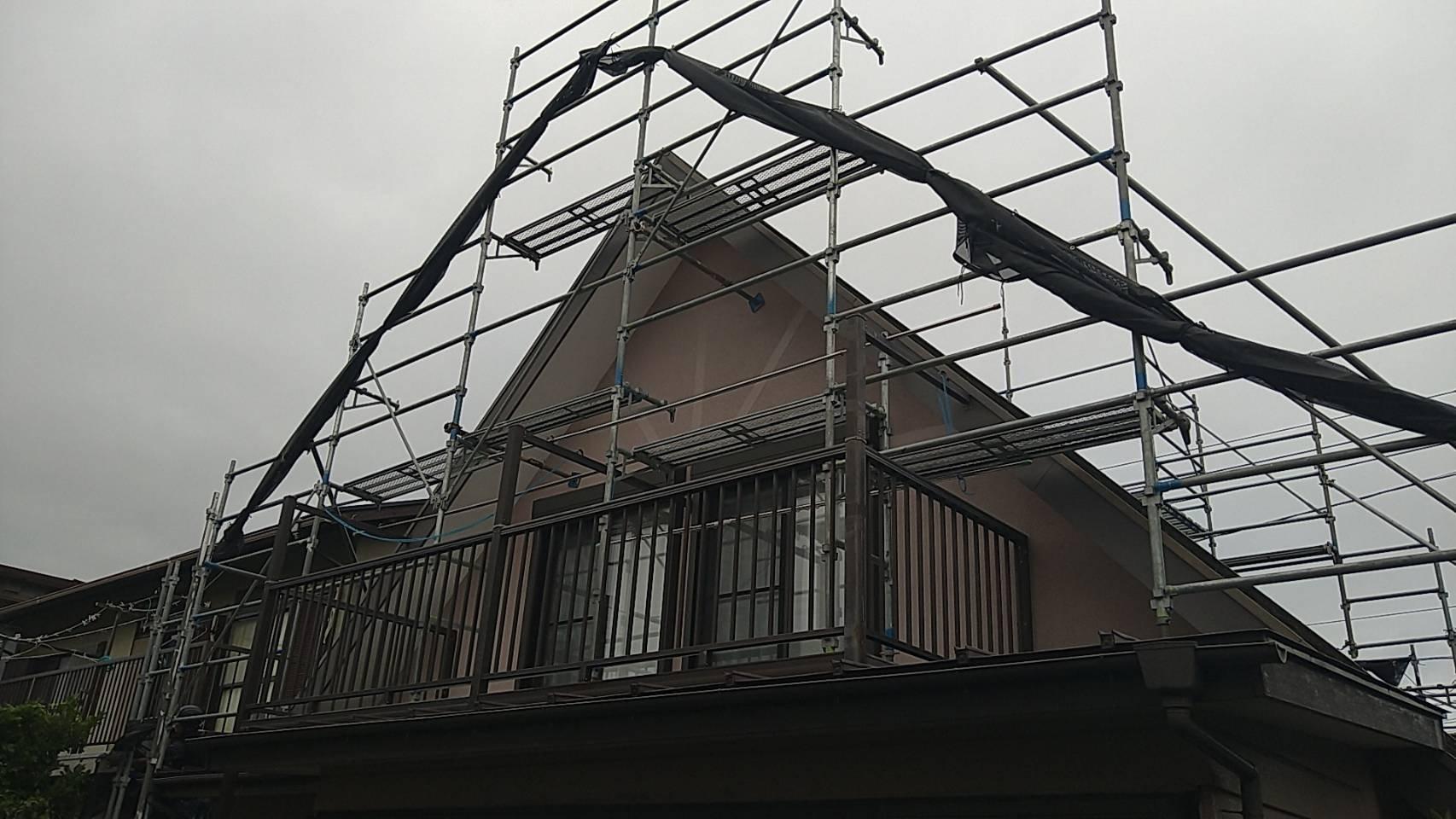 神奈川県横須賀市岩戸 足場工事施工事例