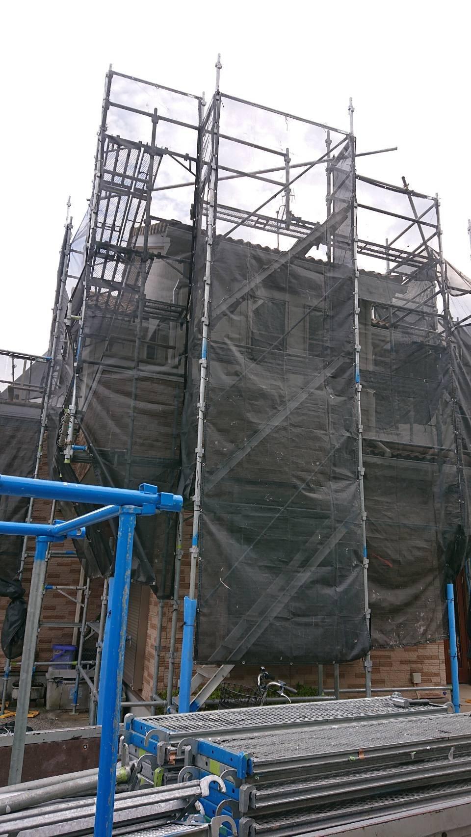 神奈川県横浜市戸塚区 足場工事施工事例 外壁塗装 屋根工事