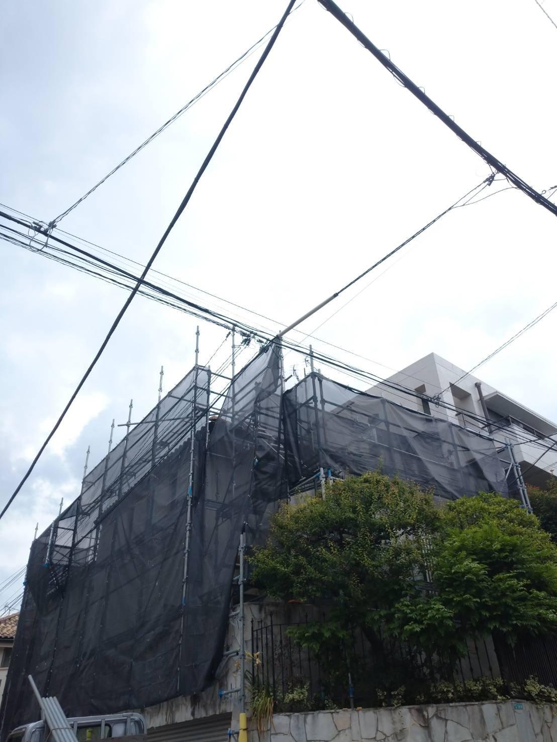 東京都目黒区 足場工事施工事例