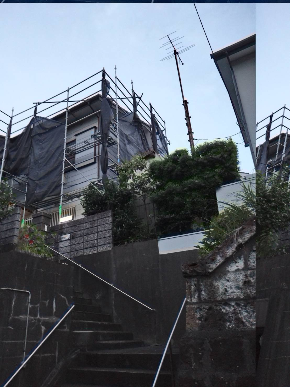 神奈川県横須賀市浦上台 足場工事施工事例