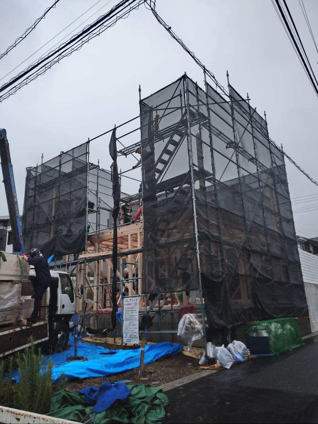 神奈川県横須賀市平作 足場工事施工事例 新築