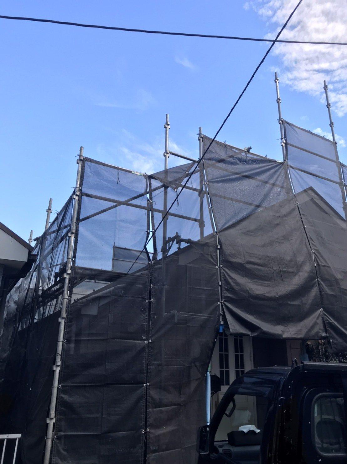 神奈川県横浜市西区 足場工事施工事例 外壁 屋根塗装