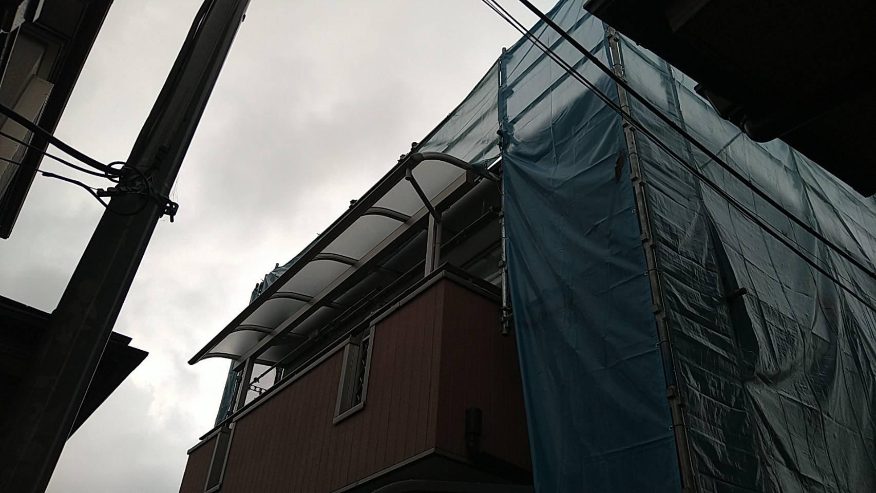 神奈川県相模原市 足場工事施工事例 屋根工事