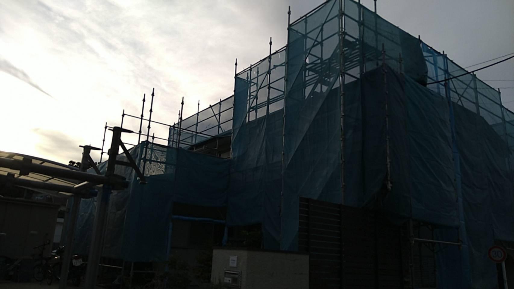 神奈川県鎌倉市 足場工事施工事例 外壁 屋根塗装