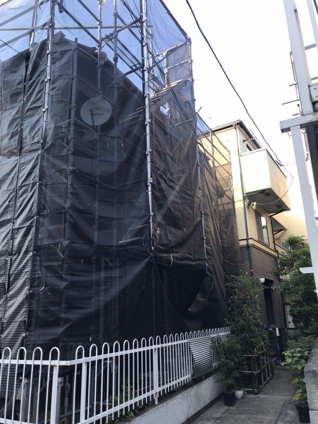神奈川県川崎市 足場工事施工事例 屋根塗装