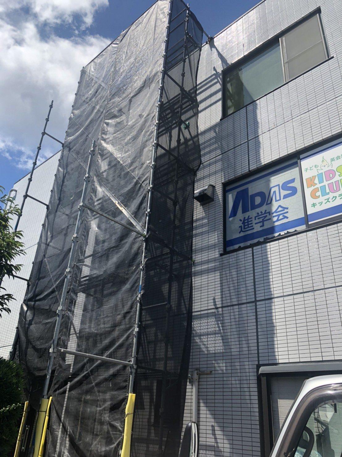 神奈川県横須賀市林 足場工事施工事例 部分足場