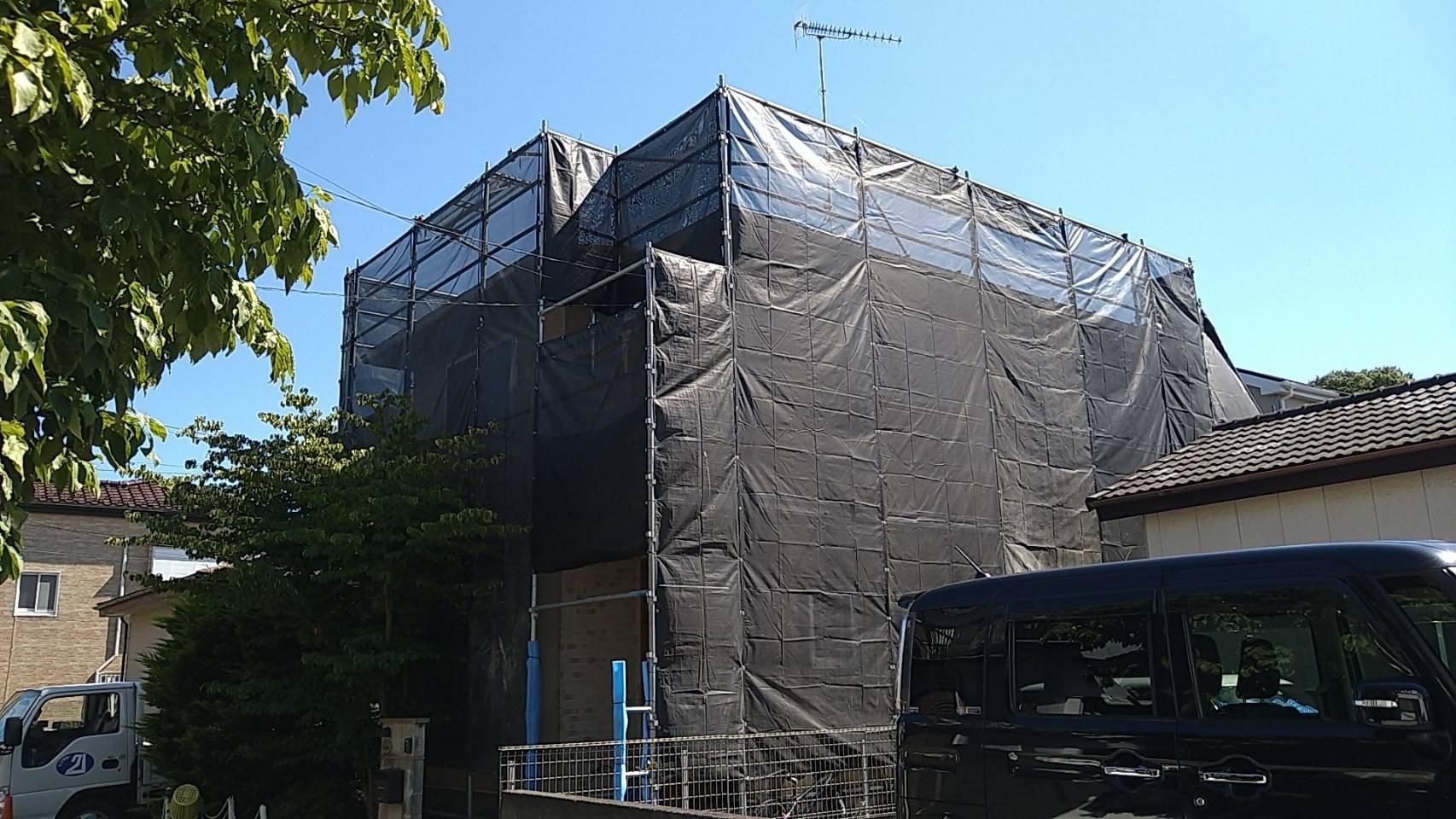 神奈川県綾瀬市 足場工事施工事例 屋根工事