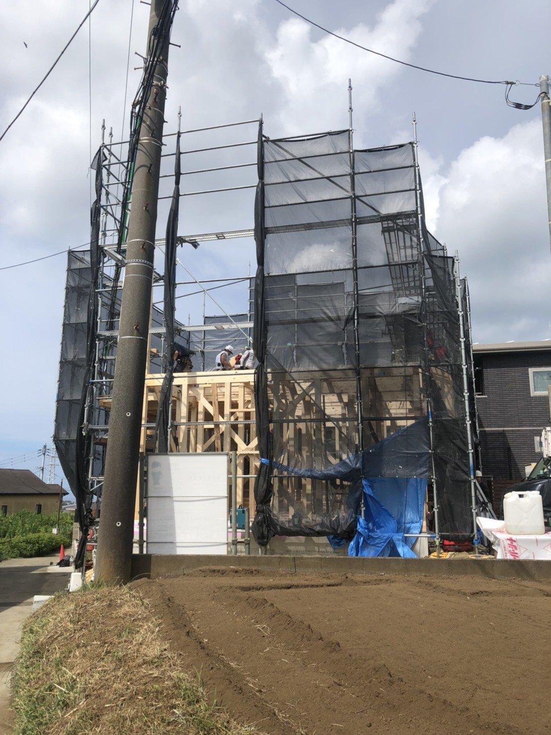 神奈川県三浦市 足場工事施工事例 新築足場工事