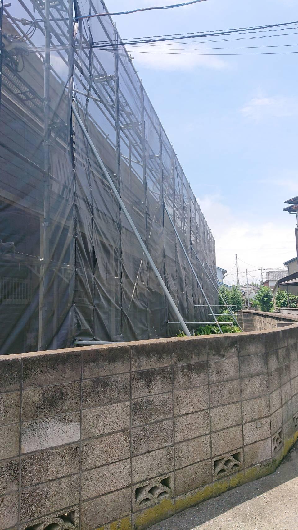 三浦市 アパート 足場工事