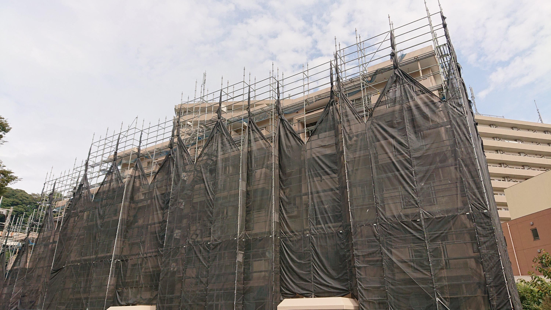 野崎工業 足場台風養生 施工事例