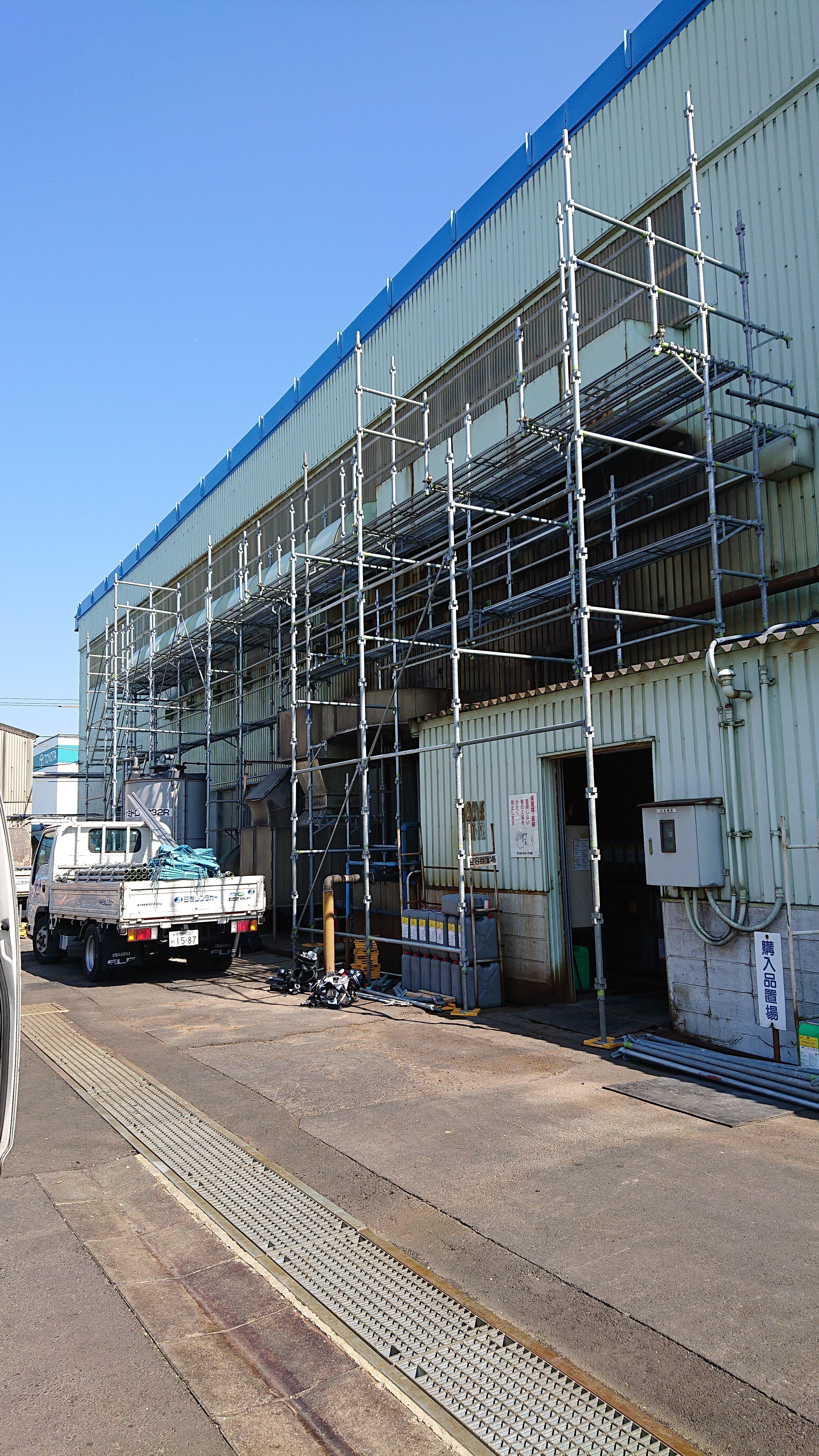 金沢区鳥浜町工場内 足場工事施行事例